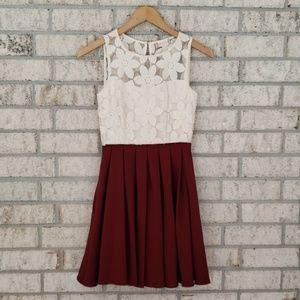 Altar'd State Floral Embroidered Full Skirt Dress